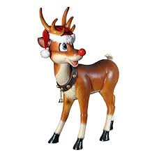 Rudolph The Red Nosed Reindeer Christmas Decorations For Outdoors by Outdoor Christmas Large Decorations With Lighted Lawn Sculptures