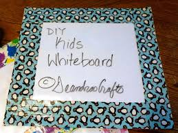 diy kids whiteboard with side opening with pictures