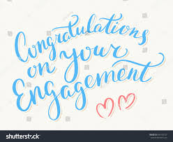 Engagement Congratulations Card Congratulations On Your Engagement Greeting Card Stock Vector