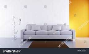 living room setting white couch face stock illustration 38796244