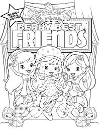 cartoon friends walking coloring friend pages free
