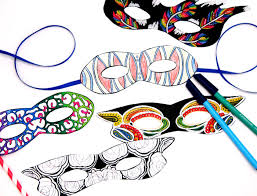 color in masks free printable coloring for and kids