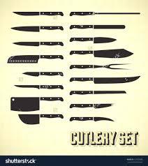 kitchen knives names kitchen remarkable different types kitchen knives vectors set
