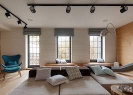 inspiring modern duplex apartment in ukraine with a slide
