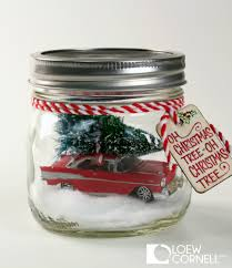 christmas tree snow globe diy car in a jar easy mason jar