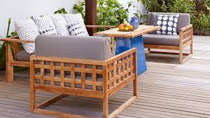 Build Wooden Patio Furniture by Claremont Seating Collection Eucalyptus Wood Outdoor Furniture