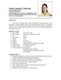 sample resume for underboard nurse resume ixiplay free resume