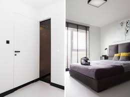 Minimalist Apartment Masculine Black And White Apartment Spiced Up With Colorful
