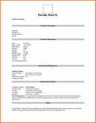resume for application format application form for resume resume for study