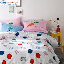 Queen Duvet Cover Pattern Svetanya Lemon Pattern Bedding Sets 100 Cotton 4pcs Bedlinens