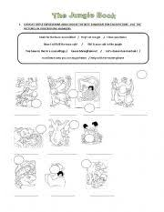 english teaching worksheets the jungle book
