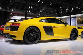 Audi R8 Yellow 2016 - audi r8 v10 plus features price in india auto expo 2016
