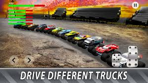 monster truck derby bigfoot arena game maveriks