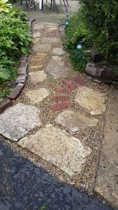 Pea Gravel Concrete Patio by 84 Best Pathways Images On Pinterest Landscaping Ideas Garden