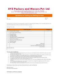 Moving Company Quotes Estimates by Company Quotation Sle Asiahotelct Com Quotation Letter Sle