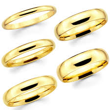 gold wedding bands 14k solid gold wedding band ebay