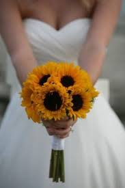 sunflower wedding bouquet cheap wedding bouquets online flower explosion