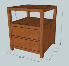 Outdoor End Table Plans Free by More Like Home Plans For An End Table Knock Off