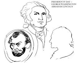 lincoln coloring pages abe lincoln and george washington on presidents day coloring page