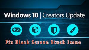 to fix black screen during installation of creators update