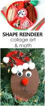 shape reindeer collage art and math fantastic fun u0026 learning