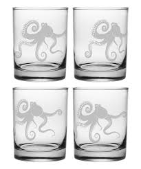 rocks glass susquehanna glass kraken double rocks glass set of four zulily