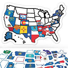 Iowa Travel Stickers images Rv state sticker travel map 11 quot x 17 quot usa states jpg