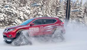 Nissan Rogue In Snow - nissan u0027s rogue warrior has tank treads to conquer the snowiest of