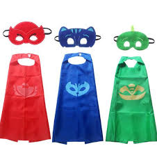 2017 pjmasks 2pcs pj masks role play cloak cape mask