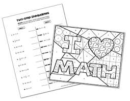 two step inequalities coloring activity by all things algebra tpt