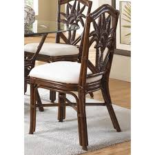indoor wicker dining room sets hospitality rattan cancun palm indoor rattan u0026 wicker side chair