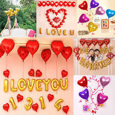 birthday helium balloons 5 pcs heart foil helium balloons wedding party birthday room