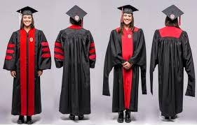 phd graduation gown uw introduces new commencement gowns modeled by bucky