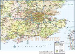 Map England by Vector South East England Map County Political Road And Rail Map