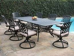 Outdoor Patio Dining Furniture Aluminum Patio Dining Tables Foter