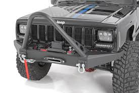 jeep xj bumper rough country front winch bumper 84 01 jeep cherokee xj 4wd 2wd