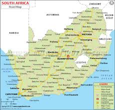 map of south africa africa road map