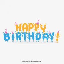 imagenes de cumpleaños sin letras letras de cumpleaños feliz en estilo de dibujos animados descargar