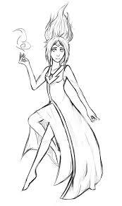 flame princess sketch by hopelessparadox on deviantart