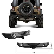 jeep rear bumper 07 16 jeep wrangler jk textured black rear bumper with 2 u0027 u0027 hitch