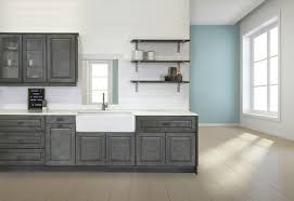kitchen cabinets and countertops at menards klëarvūe cabinetry äspet hazel galley kitchen at menards