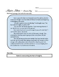 non fiction main idea worksheet by miss nic u0027s knacks tpt