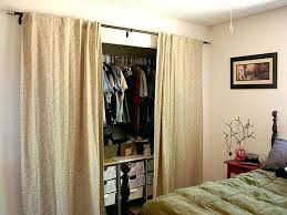Fabric Closet Doors Closet Curtain Ideas O2drops Co