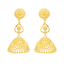 gold earrings online try it online traditional heart gold earrings grt jewellers