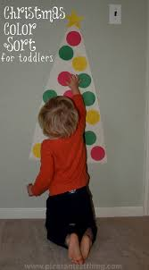 christmas colors toddler game simple play ideas