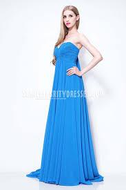 jessica alba blue formal dress on bafta awards pleated chiffon