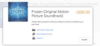 frozen movie soundtrack free google play canadian