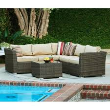 wicker outdoor sofa thy hom mirge 4 piece wicker patio seating set in dark brown