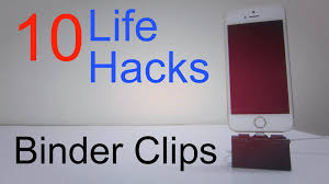 10 life hacks for binder clips youtube