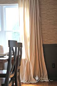 Diy Window Treatments by Cheap Home Decor Easiest Diy Drop Cloth Window Treatments
